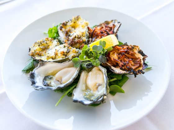 Oysters, Natural, Kilpatrick and Tuscan - Beef and Beach Byron Bay
