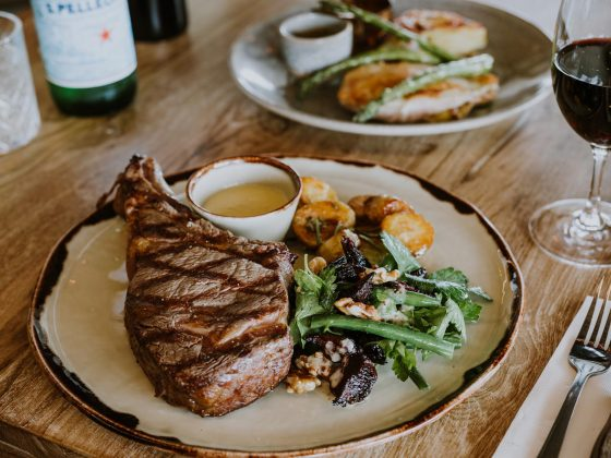 Steak cooked to perfection at Beef and Beach Byron Bay